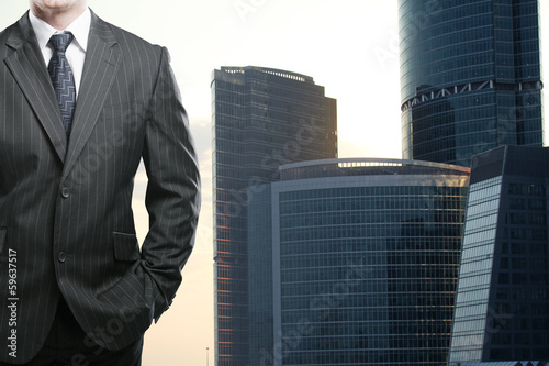 businessman and skyscraper