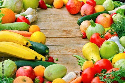 The abundance of fresh organic fruits and vegetables