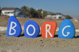 Borg, swedish word meaning castle, tower and surname
