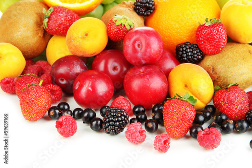 Fresh fruits and berries close up