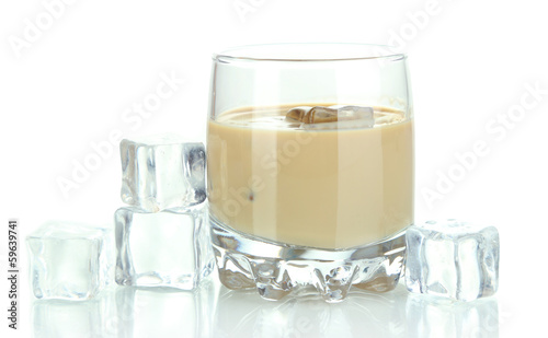 Baileys liqueur in glass isolated on white - 59639741