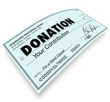 Donation Check Word Money Gift Contribution