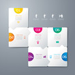 Infographics vector design template.