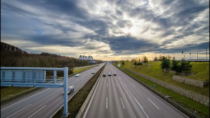 TL - Autobahn am Fröttmaninger Berg - München