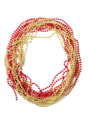 Number zero of red and gold beads