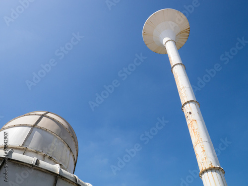 water tower and cooling tower