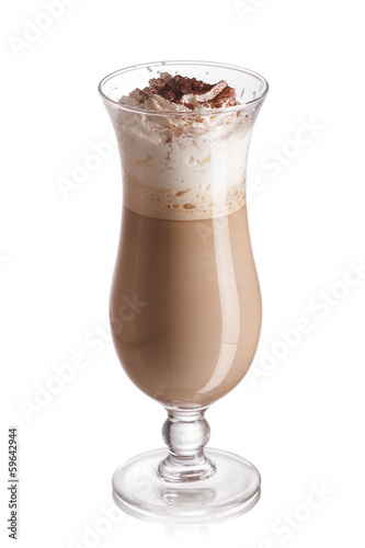 Milk coffee cocktail