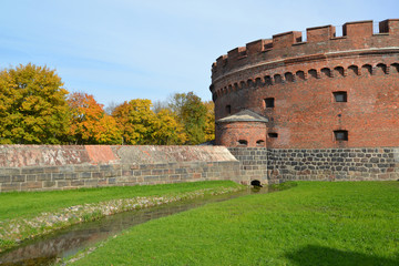 """Kaliningrad. """"Der Don's"""" tower in the fall"""