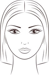 Vector illustration of female face