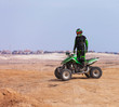 ATV rider in the desert summer