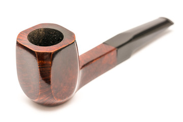 Tobacco Wooden Pipe On White Background