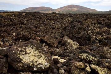 volcanic stone in los volcanes lanzarote   timanfaya  rock  summ