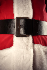 Santa Claus belt closeup