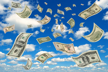 Money in the sky.