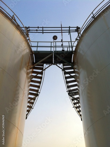 ladder and storage tank