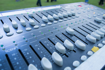 music mixer closeup