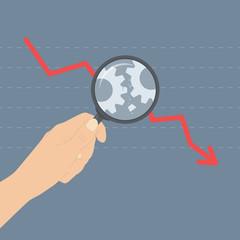 Analyzing crisis illustration concept