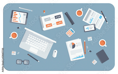 Business meeting flat illustration