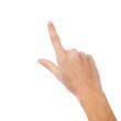 Hand touching on virtual screen