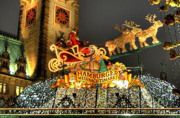 Hamburger Weihnachtsmarkt.