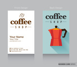 Modern Business-Card Design with Coffee Icon