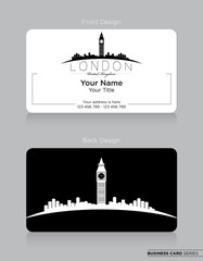 Modern Business-Card Design with London Icon