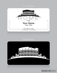 Modern Business-Card Design with Rome Icon