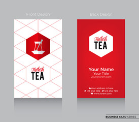 Modern Business-Card Design with Turkish Tea Icon