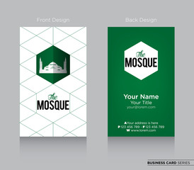 Modern Business-Card Design with Mosque Icon