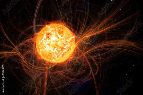 Leinwandbild Motiv sun in space