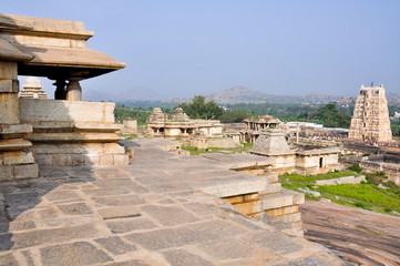 Temples at Hemakuta Hill, Hampi (India)