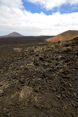 stone  volcanes lanzarote   volcanic   rock  sky  hill  summer