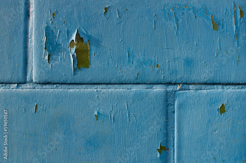 grungy blue brick wall, texture