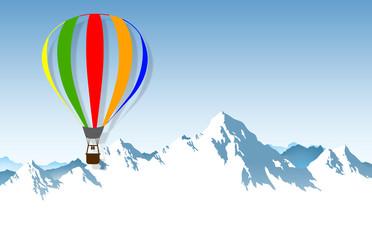 Flug über das Gebirge
