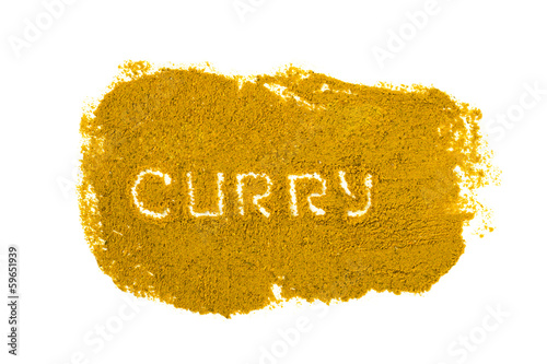 Сurry powder isolated