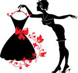 Pin up woman silhouette