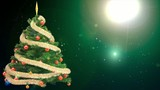 Motion backgrounds high definition - Christmas tree spruced