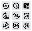 vector 24 hours symbols - 59653310