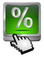 Button mit Prozent Symbol mit Cursor