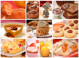 Collage showing a variety of delicious baked goods