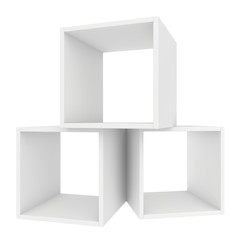 shelves white