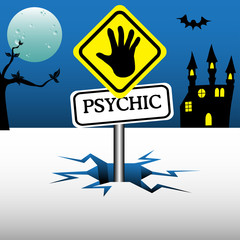 Psychic reader plate