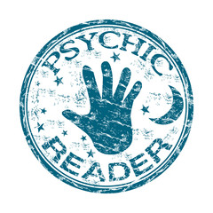 Psychic reader rubber stamp
