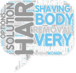 Concept of Body Hair Removal  Your Choices