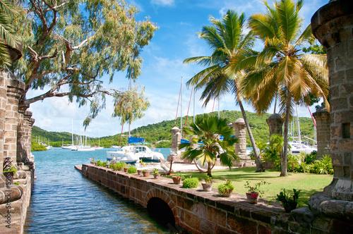 Poster Caraïben Nelson's Dockyard near Falmouth, Antigua, Caribbean