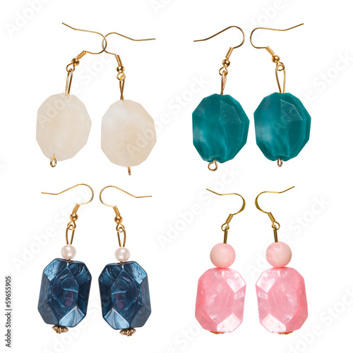 Pearlescent earrings different