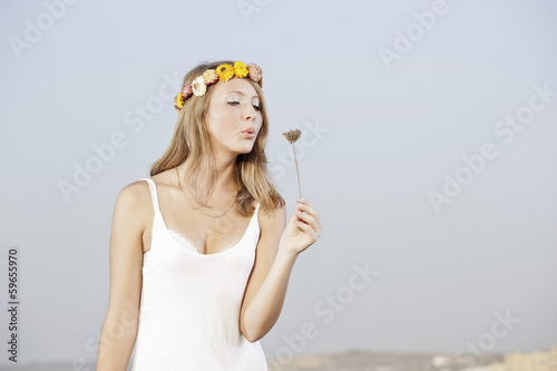 Blowing flowers