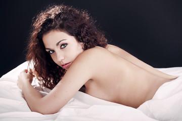 Beautiful girl in bed