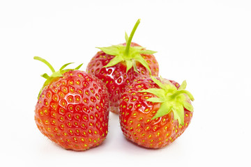 sweet strawberries on white background