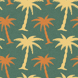 Seamless Pattern with Coconut Palm Trees. Endless Print Silhouet